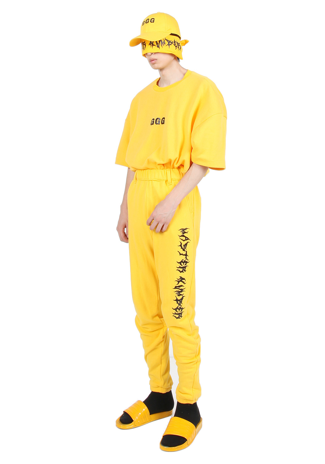 YELLOW MASTER NUMBER JOGGER PANTS