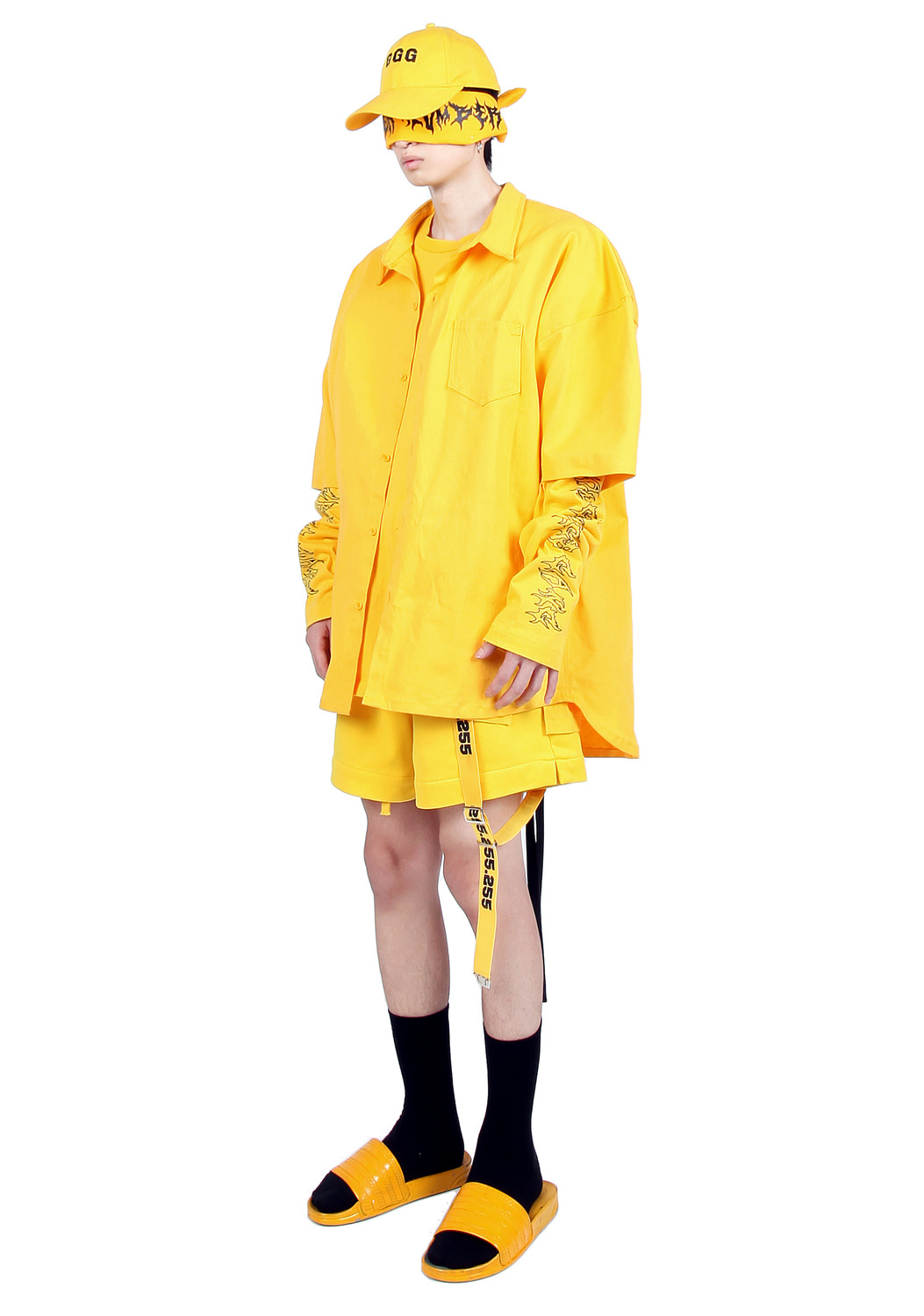 YELLOW SHORT SLEEVE OUTER SHIRTS