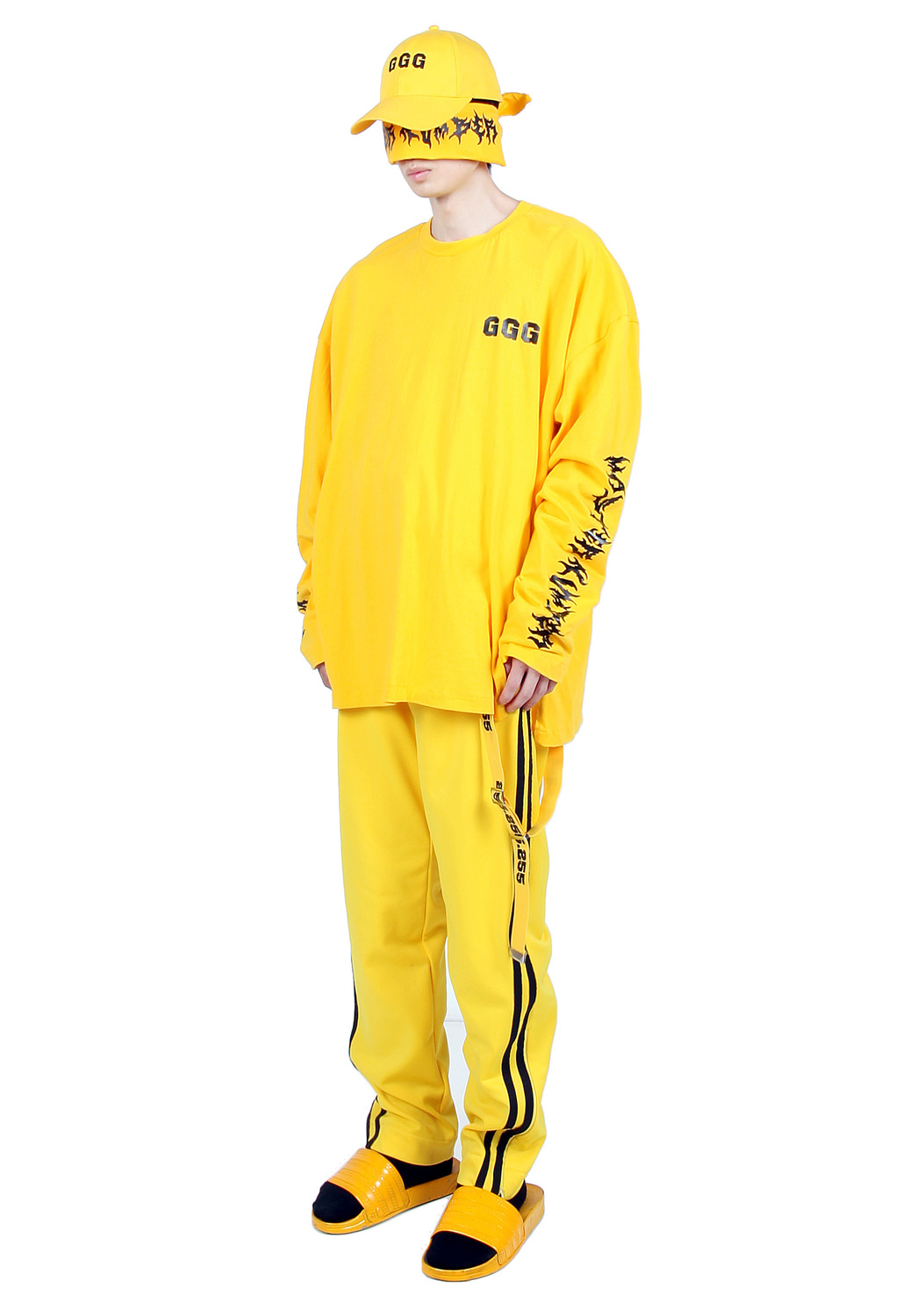 YELLOW MASTER NUMBER LONG SHIRTS
