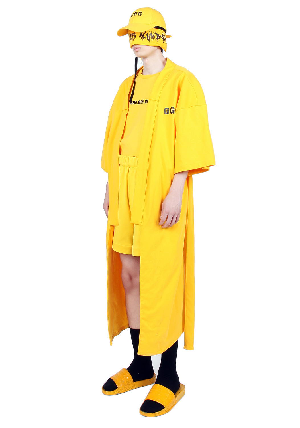 YELLOW LONG ROBE COAT