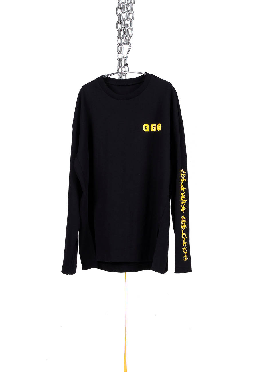 BLACK MASTER NUMBER LONG SHIRTS