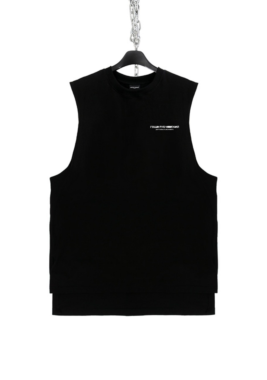 FAKE FACE BURN SLEEVELESS(GOSHA)